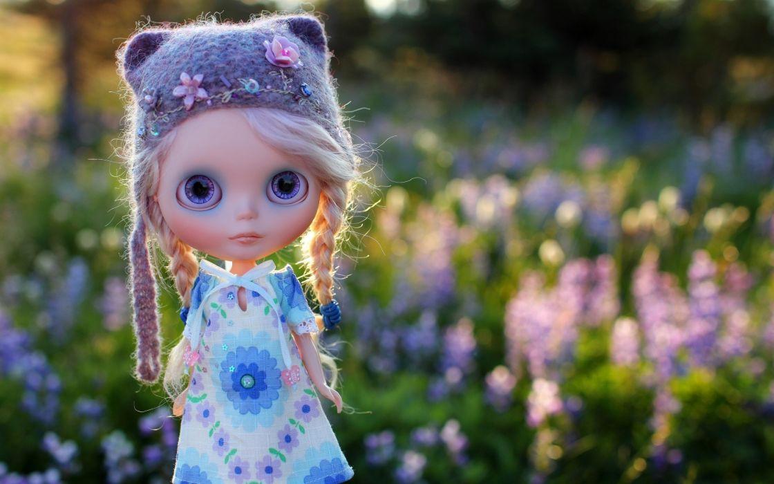 doll toy field grass hat cap braids girl girls mood dolls wallpaper