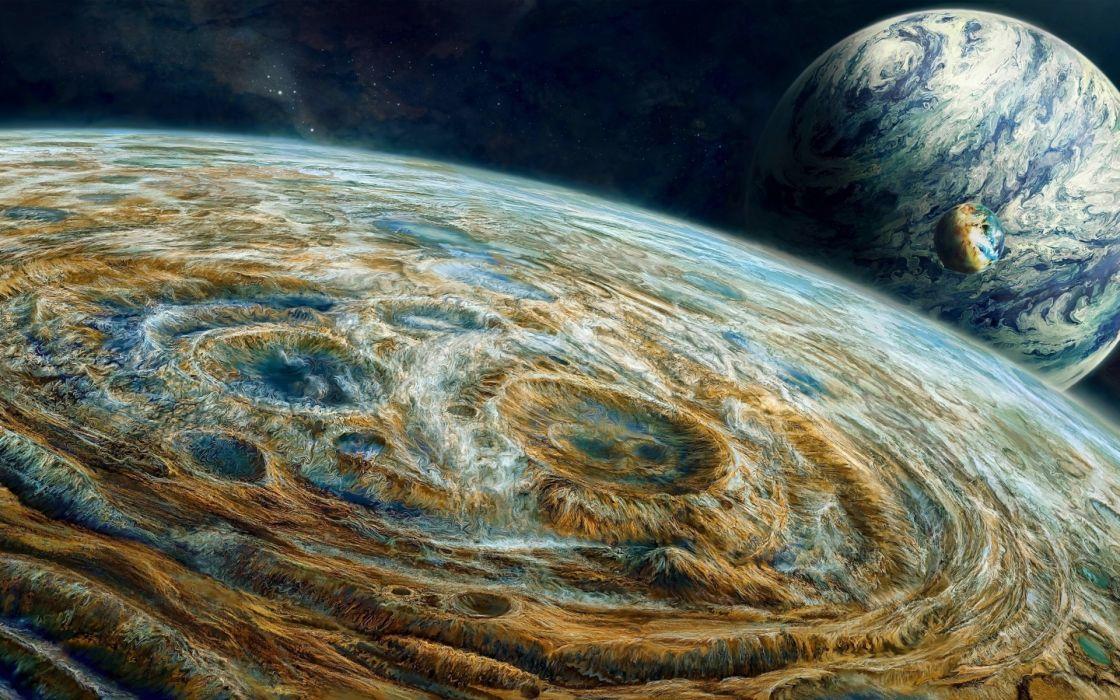 planet planets space moon moons stars landscapes landscape wallpaper