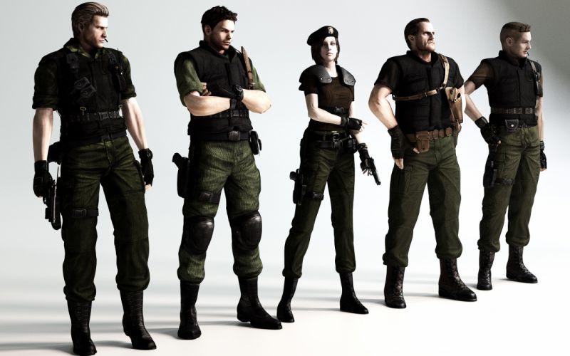 Resident evil 6 Resident Evil Chris Redfield biohazard 6 fan art Albert Wesker Jill Valentine ...