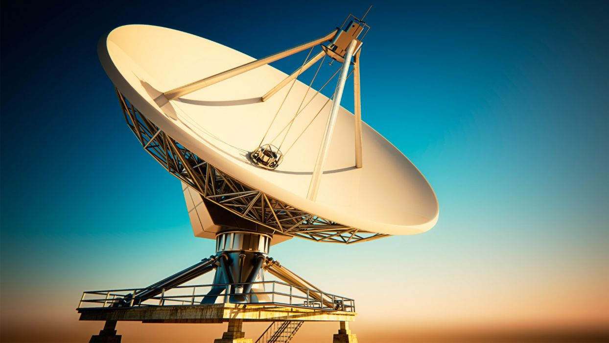 Satellite sky communication dish space wallpaper