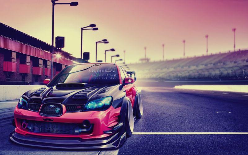 Subaru impreza tuning race racing drift wallpaper