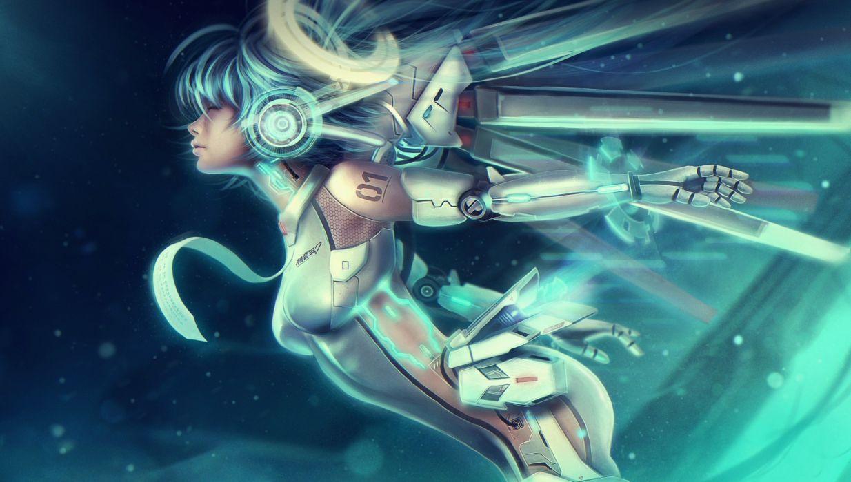 Vocaloid Armor Anime Girls wallpaper
