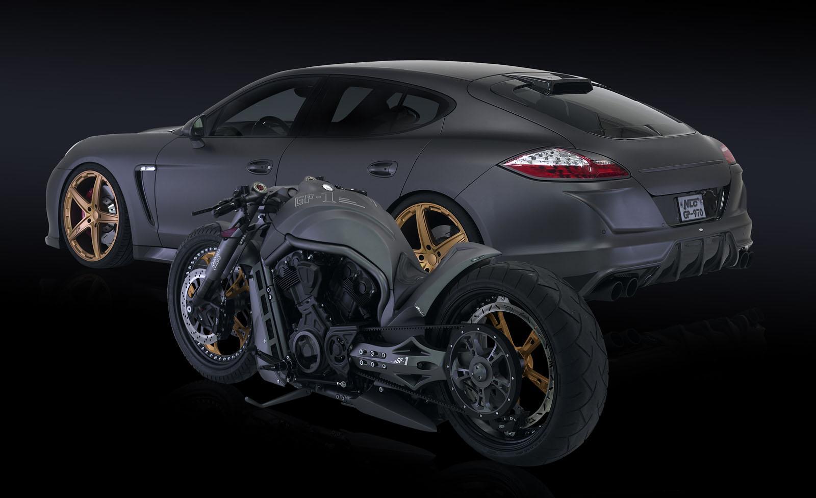 2012 NLC Porsche Panamera GP 970 Tuning Chopper Motorcycle