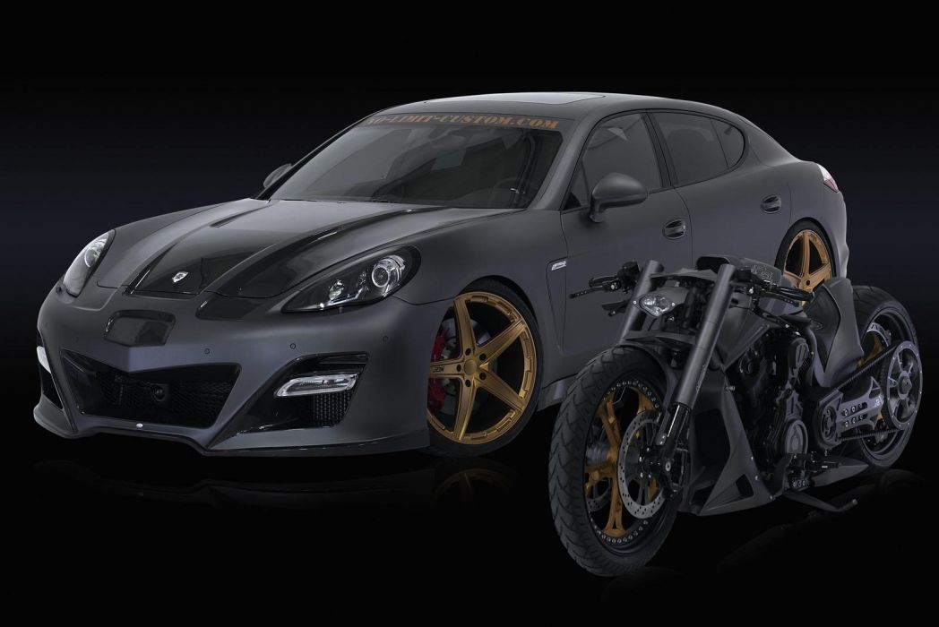 2012 NLC Porsche Panamera GP-970 tuning chopper motorcycle wallpaper