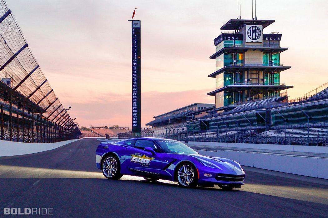 2014 Chevrolet Corvette Stingray Indy 500 Pace supercar supercars muscle t wallpaper