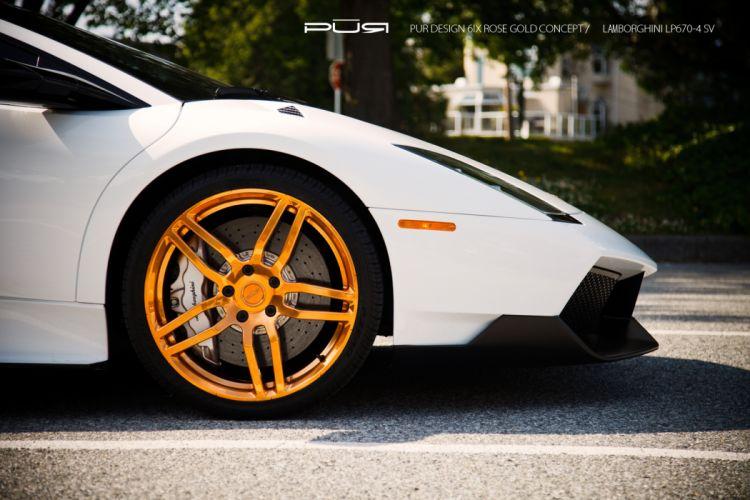 2012 SR-Auto Lamborghini Murcielago LP670-4 SV supercars supercar tuning wheel wheels wallpaper