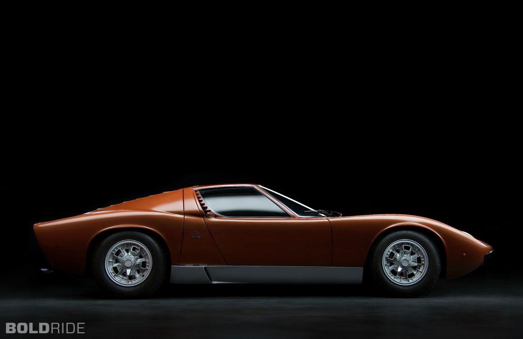 1966 Bertone Lamborghini Miura supercar supercars classic    s wallpaper
