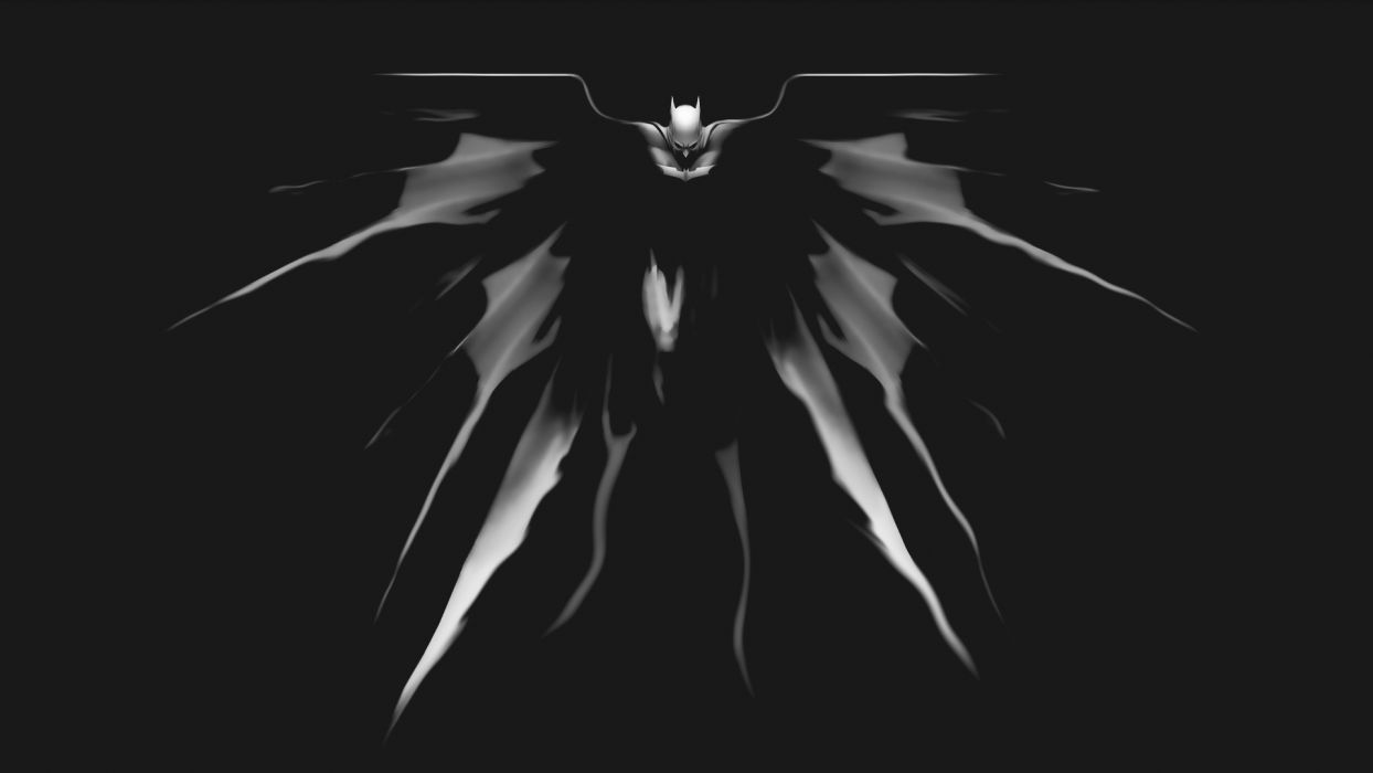 Batman Black BW knight comics movies wallpaper