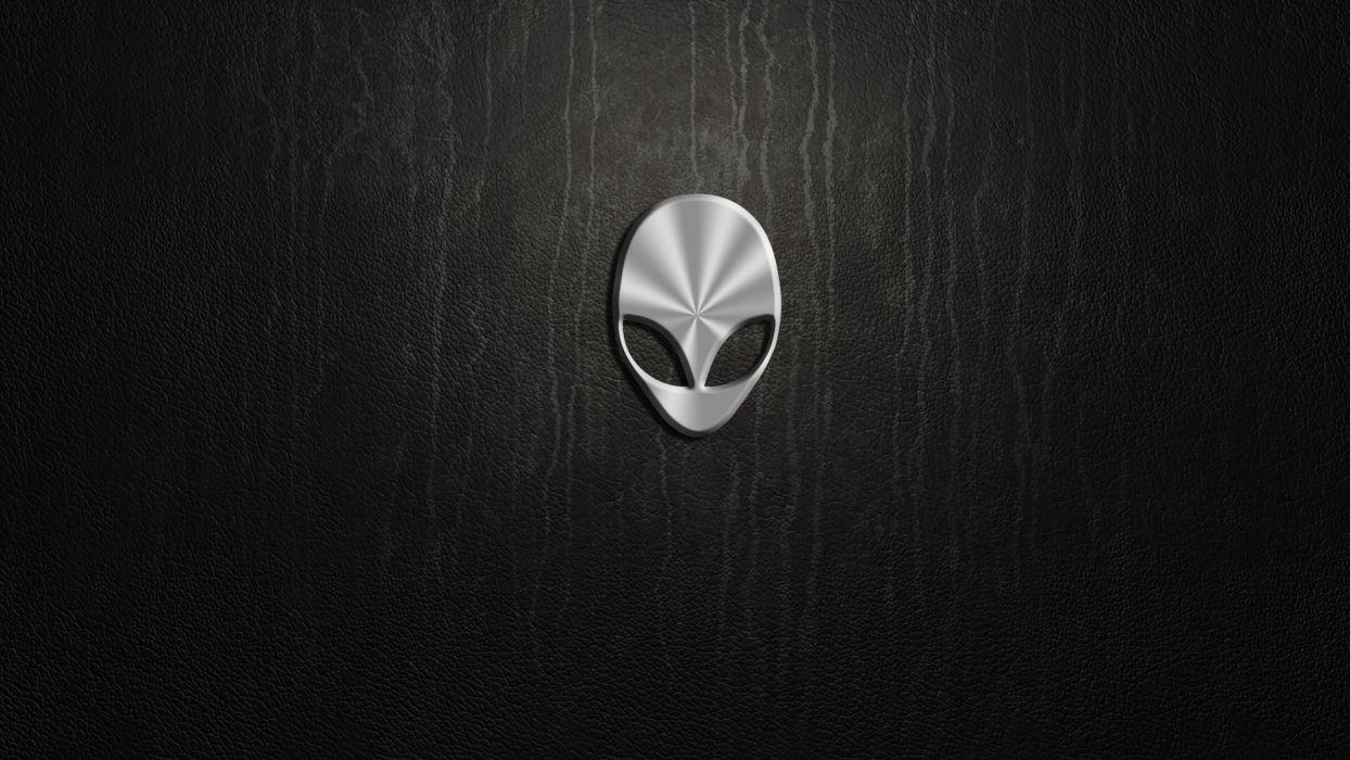 computer computers Alienware Logo Leather Texture wallpaper
