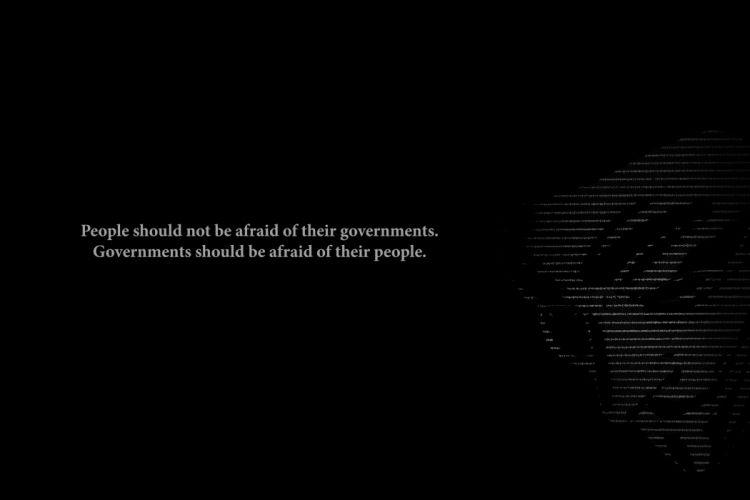 Government BW Black V for Vendetta Afraid anarchy texts wallpaper