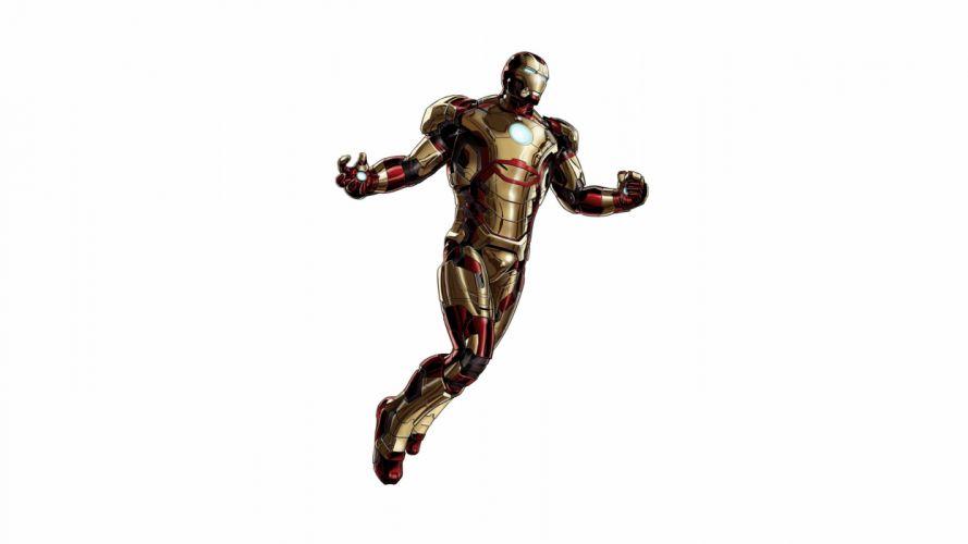 Iron Man White comics movies superhero wallpaper