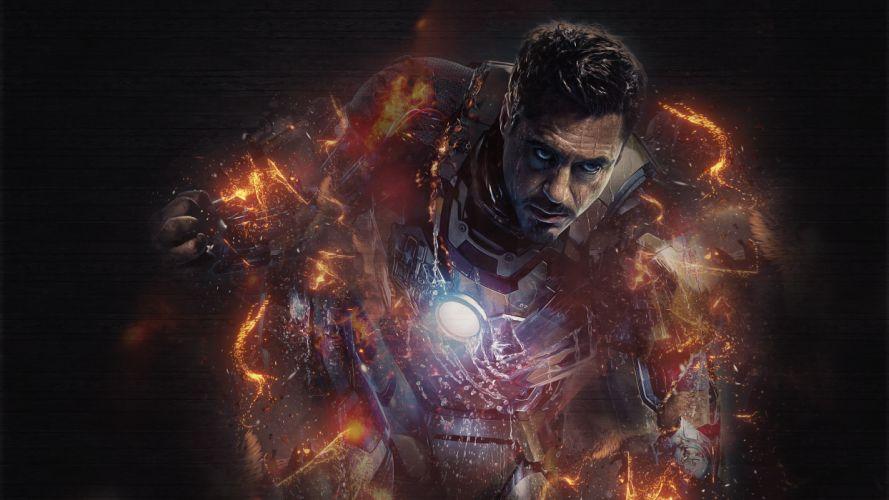 Iron Man Robert Downey Jr superhero comics movies suit wallpaper