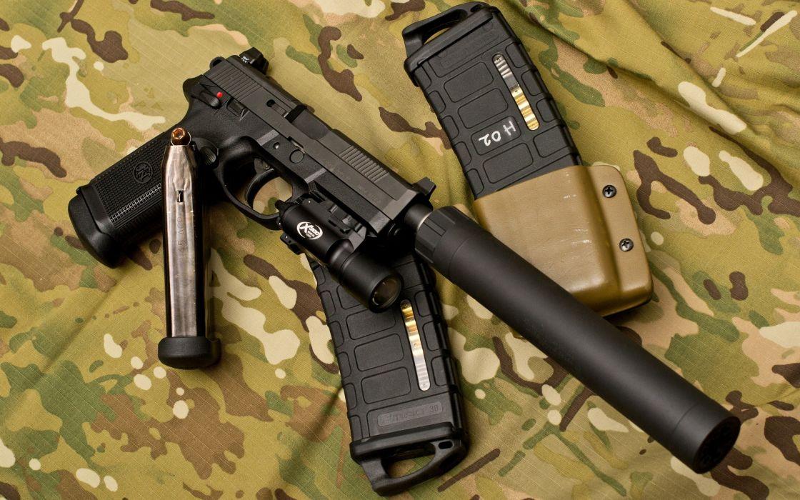 MDH-5312 Handgun Camouflage Silencer camo weapons wallpaper