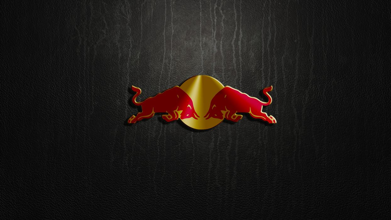 Red Bull Logo Leather Texture q wallpaper