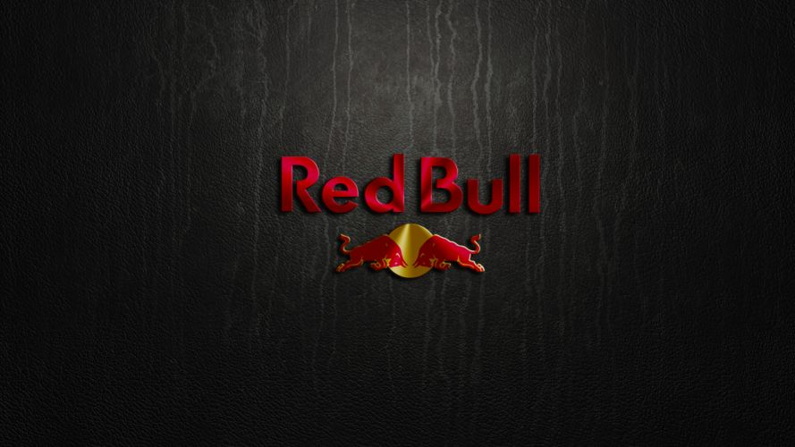 Red Bull Logo Leather Texture wallpaper