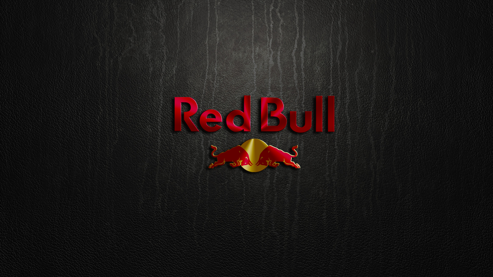 Red Bull Logo Red Bull Logo Leather Texture