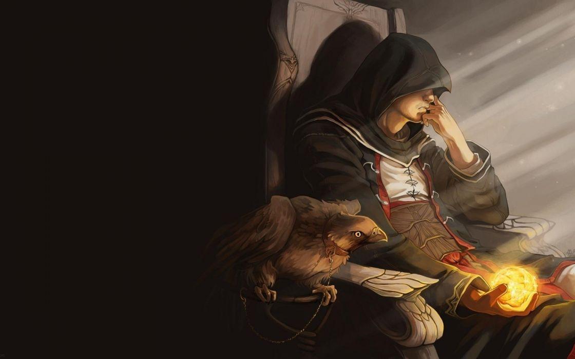 Assassin's Creed Hawk Birds Drawing wallpaper