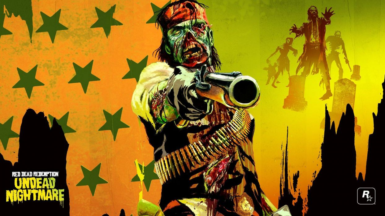 Red Dead Redemption Zombie Pirate Drawing Undead Nightmare dark horror weapons guns zombie zombies wallpaper
