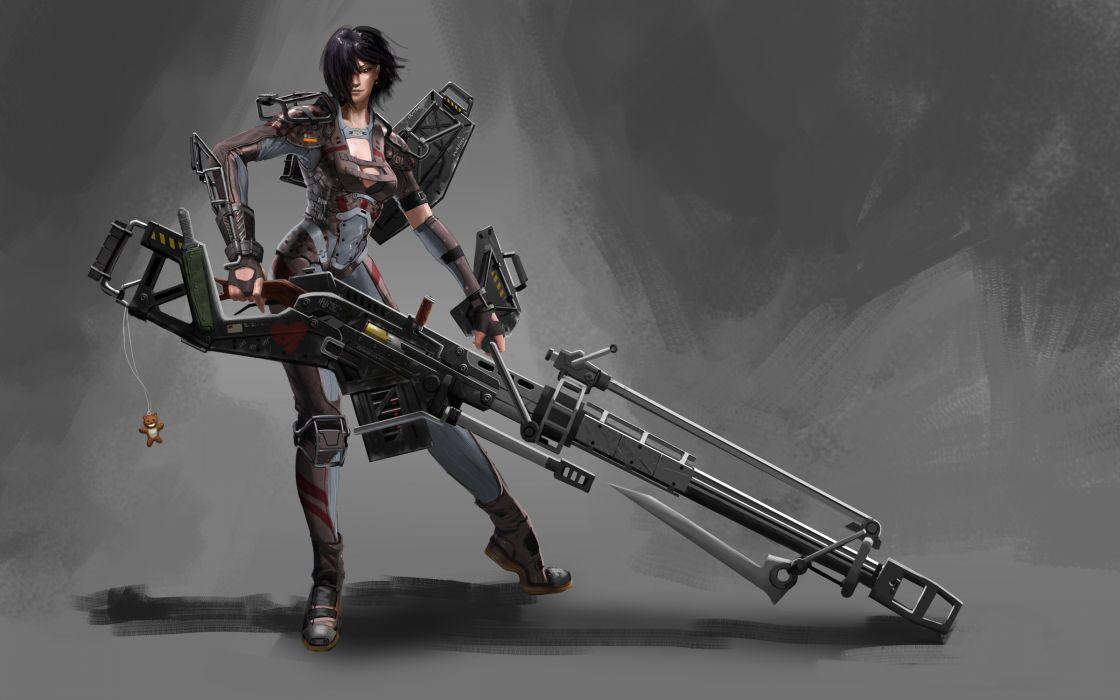 Warriors Fantasy Girls warrior weapons guns sniper snipers wallpaper