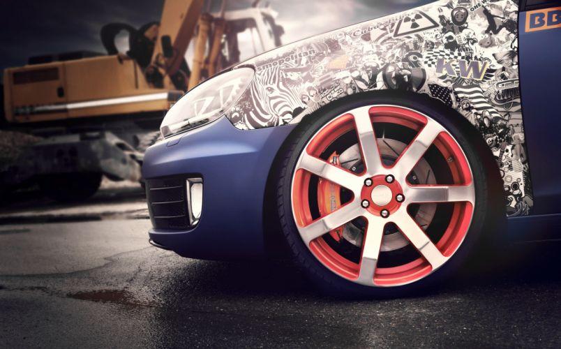 2012 BBM-Motorsport Volkswagen Golf VI tuning wheel wheels e wallpaper