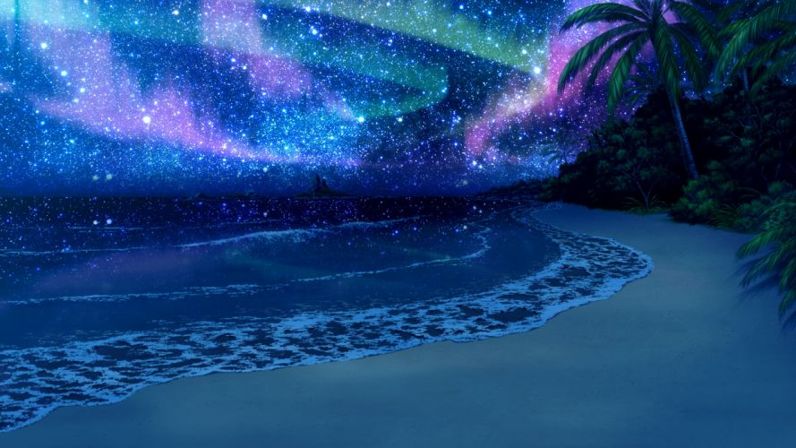 guardian-place beach game cg guardian place scenic skyfish stars wallpaper