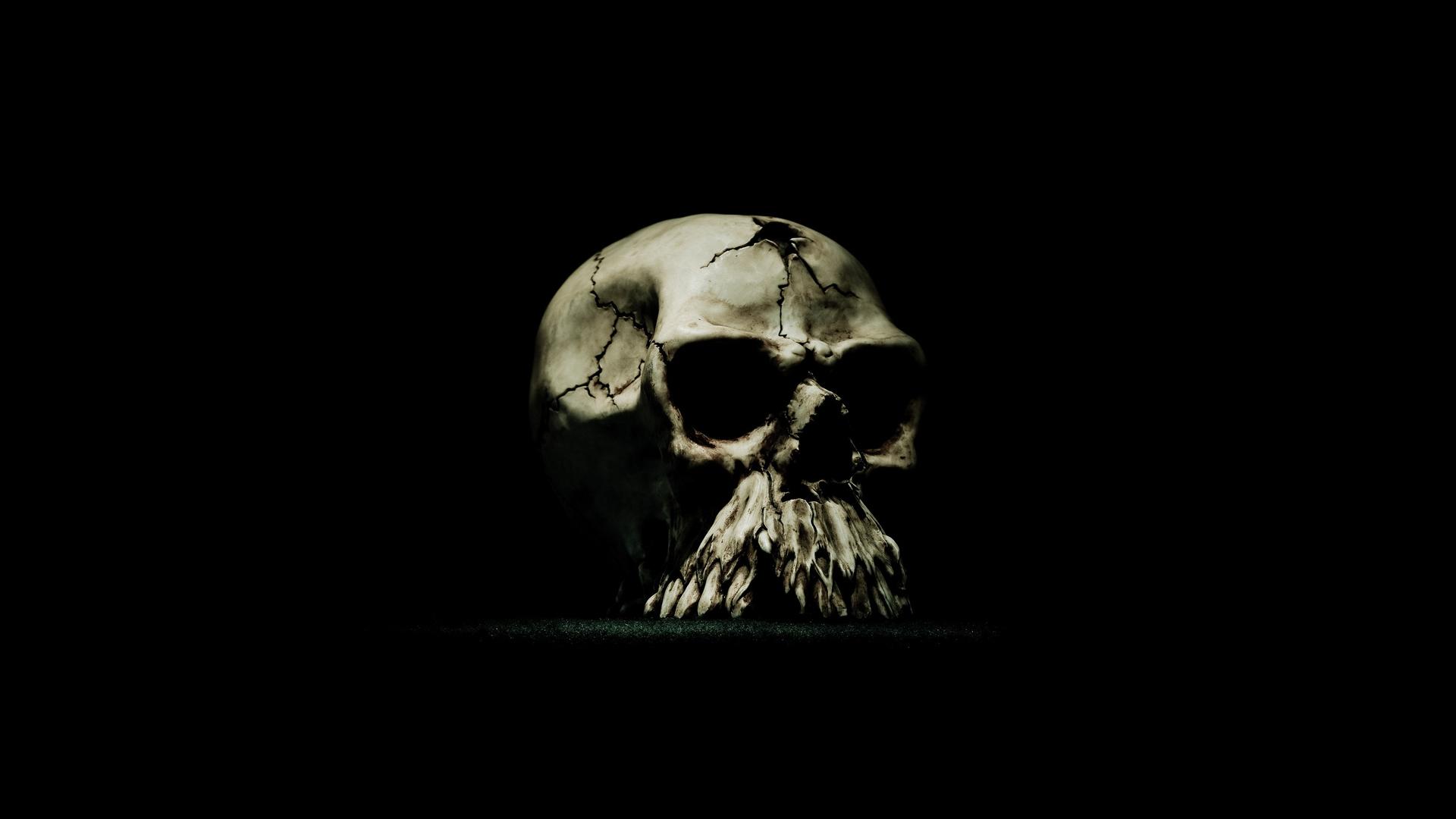 monster skull black wallpaper - photo #1