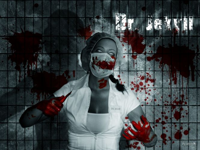 Dr-Jekyll dark horror evil blood girl girls wallpaper
