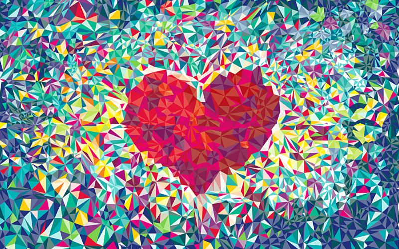 love heart abstract pattern patterns mood bokeh wallpaper