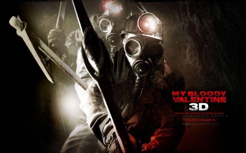 My-Bloody-Valentine My Bloody Valentine dark horror movies mask gasmask gas wallpaper