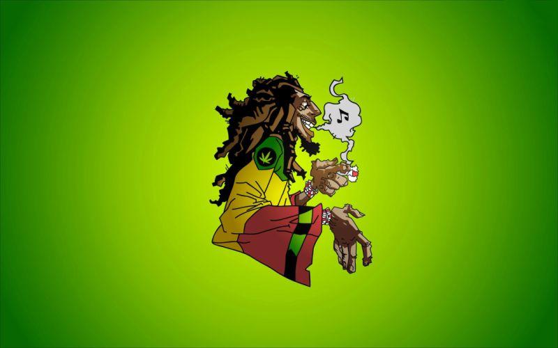 bob marley reggae music caricature smoke marijuana