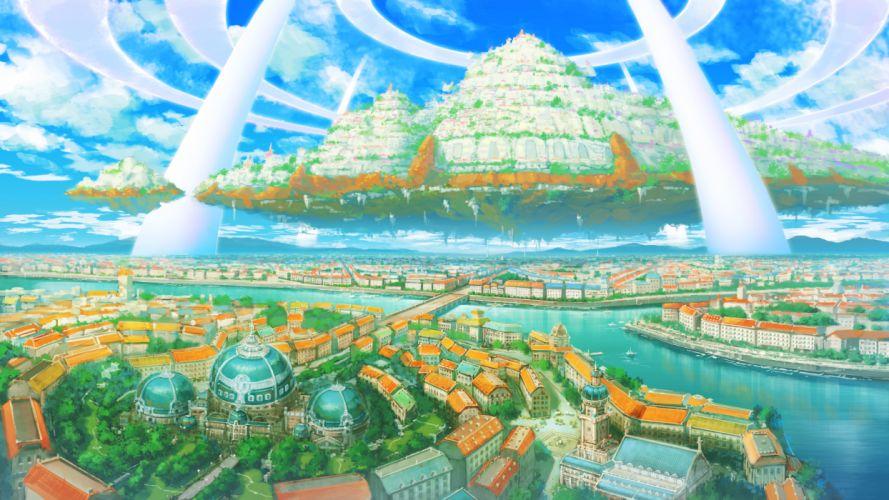 city landscape original scenic senko doki sky wallpaper