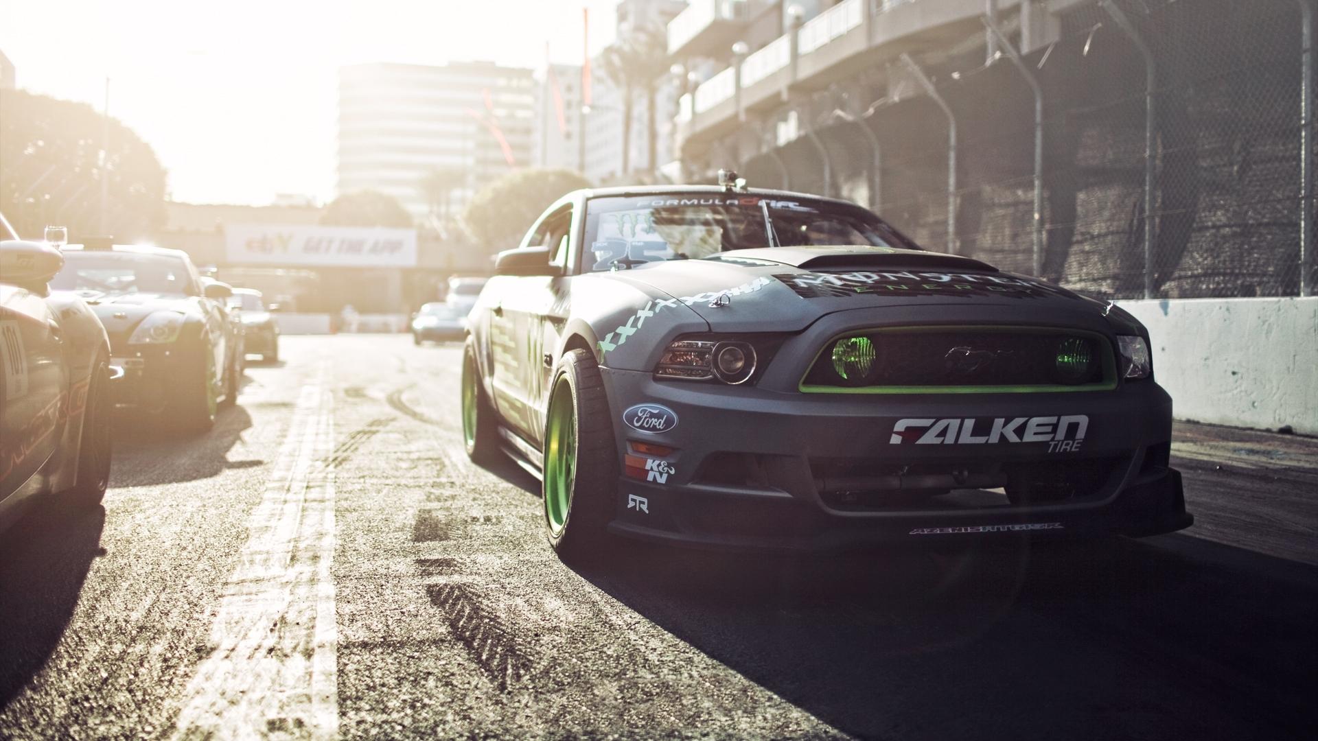 ... Ford Mustang Gittin Falken Monster Energy drift muscle race racing