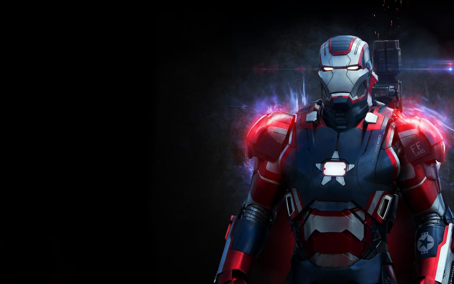 Iron Man War Machine Black Suit Superhero Wallpaper