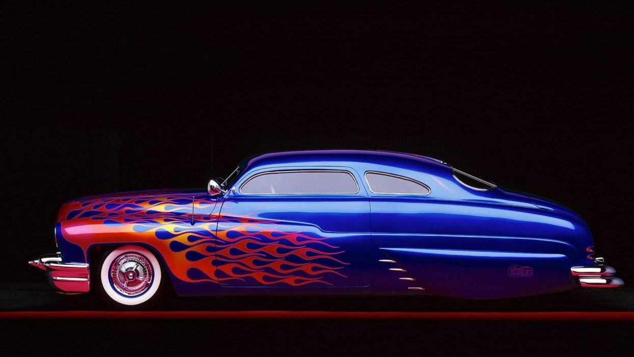 Mercury lowrider retro classic fire custom hot rod rods wallpaper