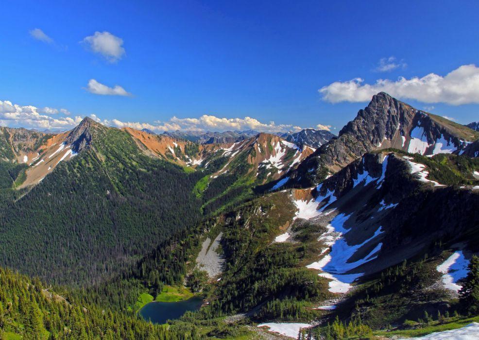 Mountains USA Scenery Sky Wilderness Pasayten Nature Wallpapers wallpaper