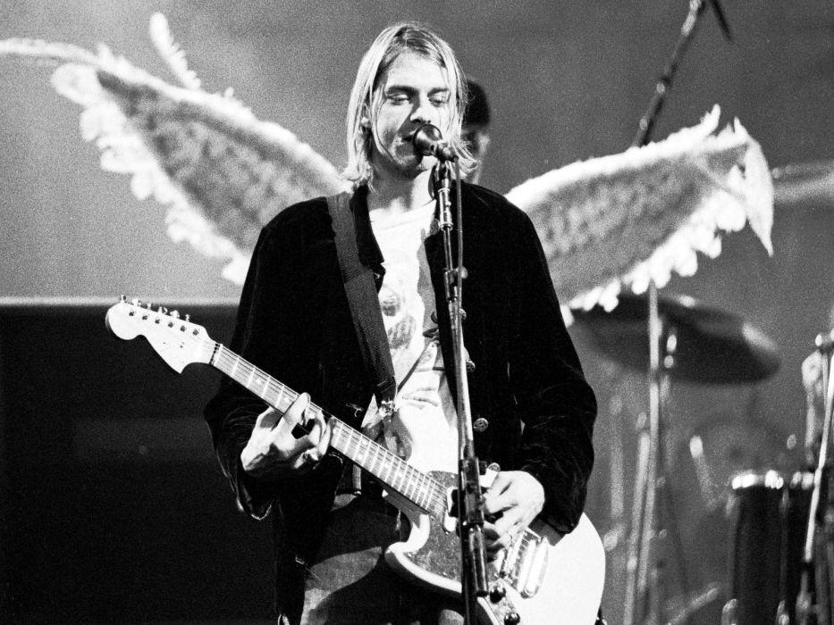 nirvana kurt cobain musicians Entertainment Music concert concerts guitar guitars wallpaper