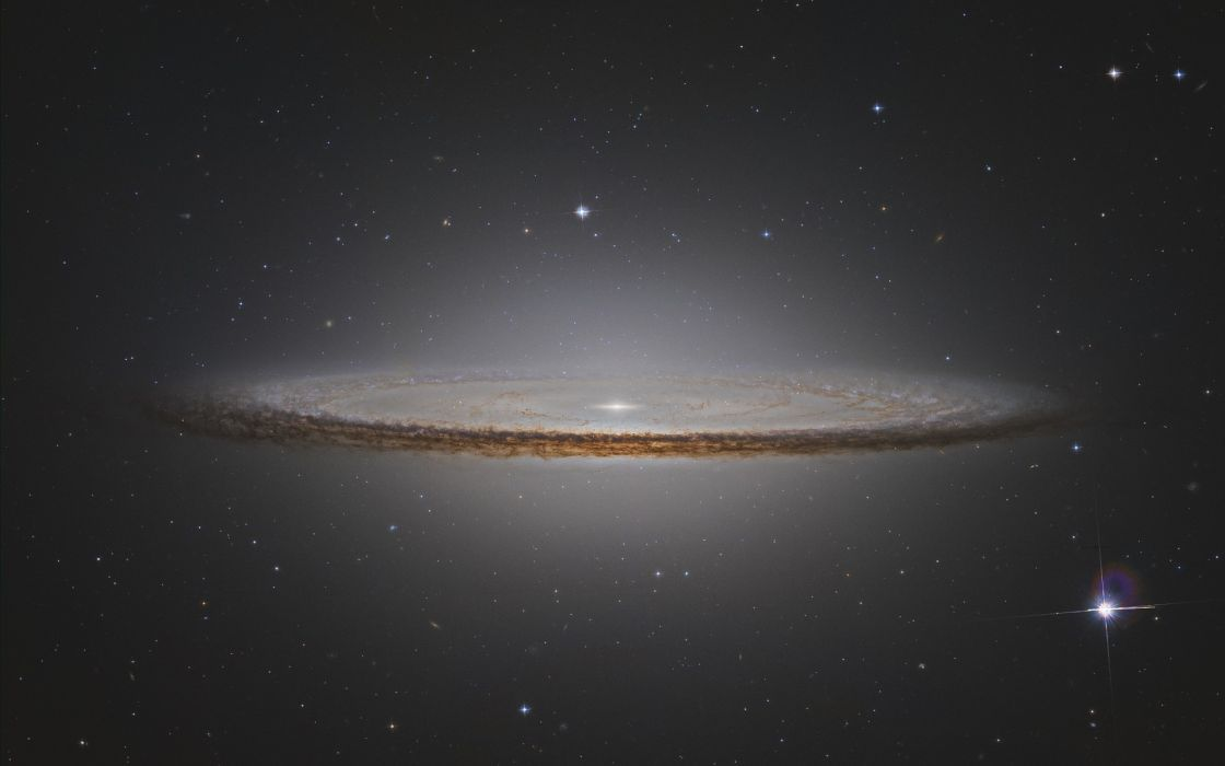 Sombrero Galaxy galaxies star stars space outer wallpaper