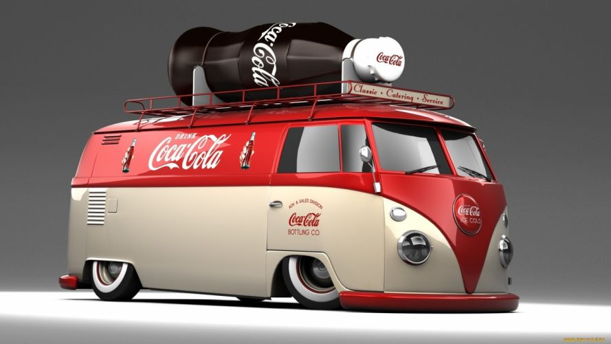 Volkswagen Bus Volkswagen Classic Car Classic Coca-Cola Coke tuning coca cola products wallpaper