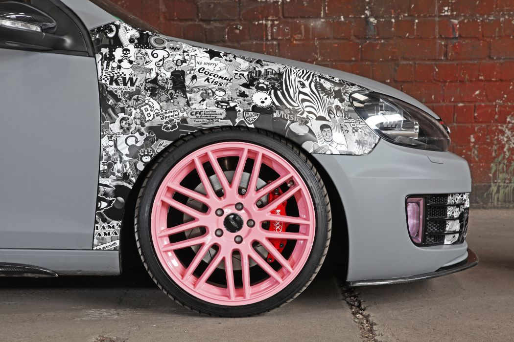 2012 CFC Volkswagen GTI LeitGolf golf tuning wheel wheels wallpaper