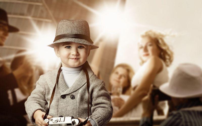 children with camera wallpaper