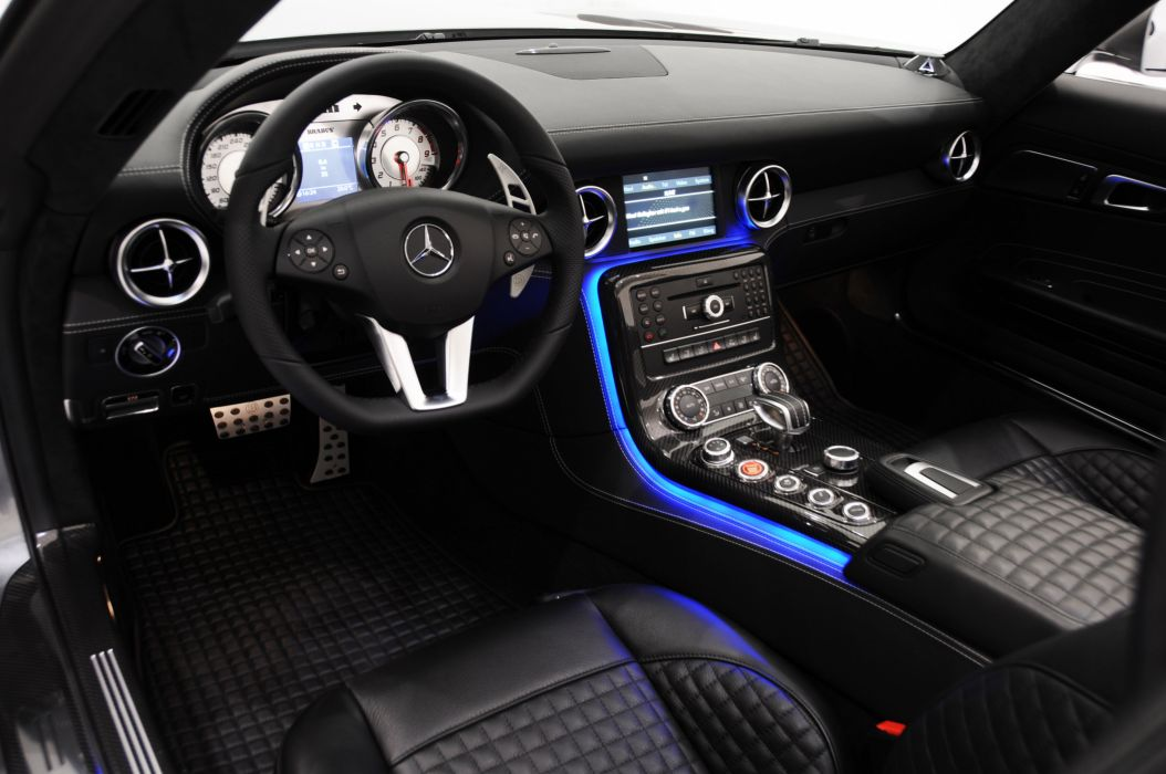 2011 BRABUS Mercedes SLS AMG tuning interior wallpaper | 3000x1993 ...
