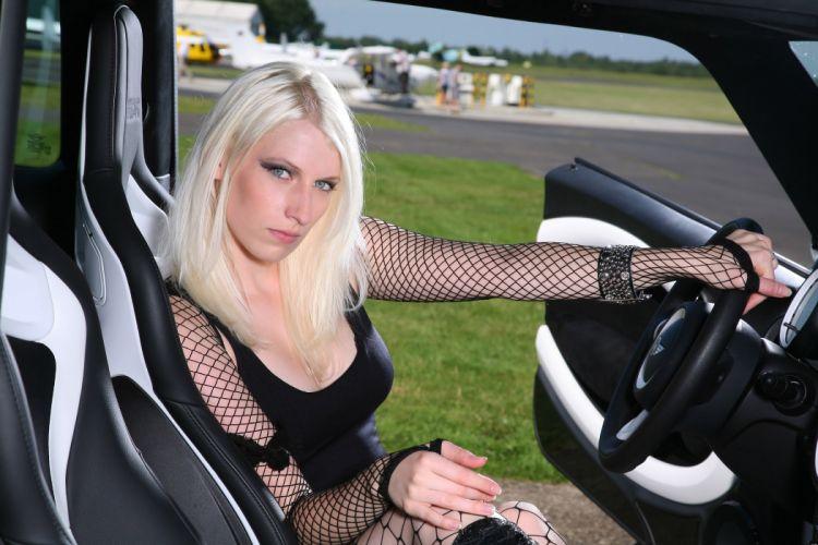 2011 Mac-Audio MINI Clubman tuning women blonde blondes girl girls q wallpaper