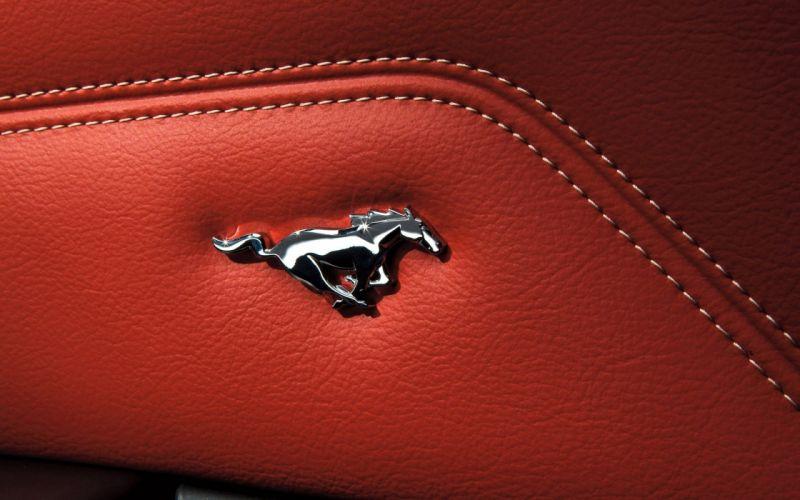 Ford-Mustang-Emblem-Interior wallpaper