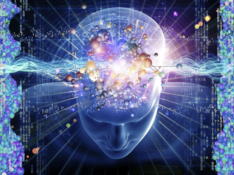 Mind Inspiration Numbers Brain Matrix science tech abstract wallpaper