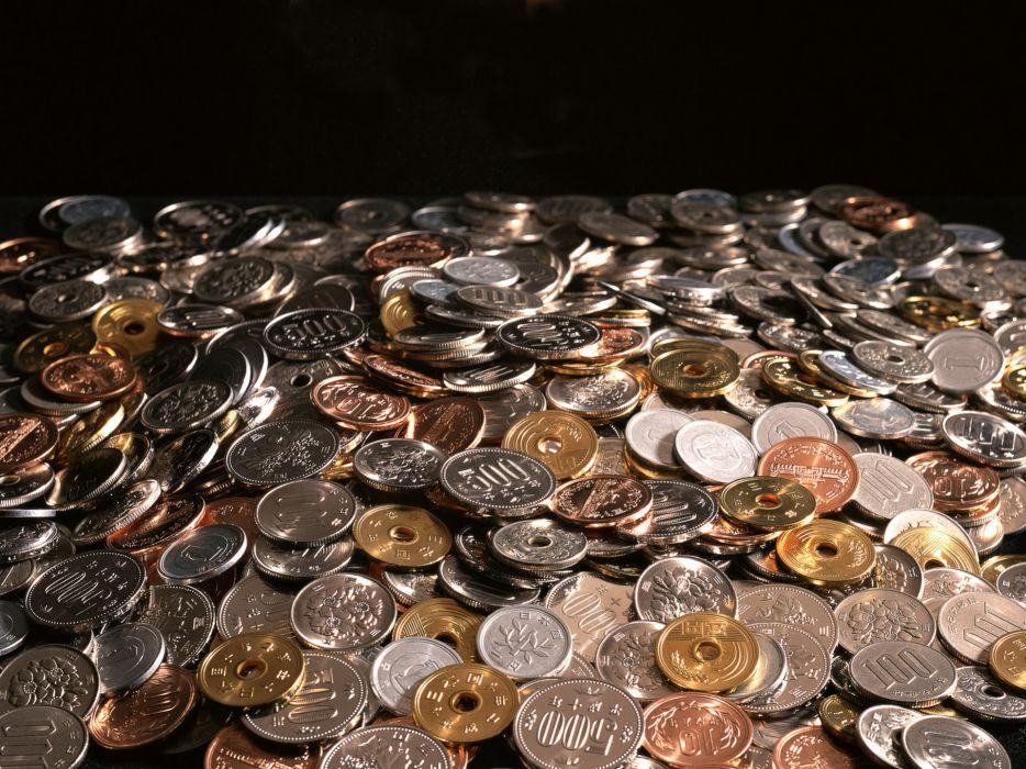 money coin coins reflection wallpaper