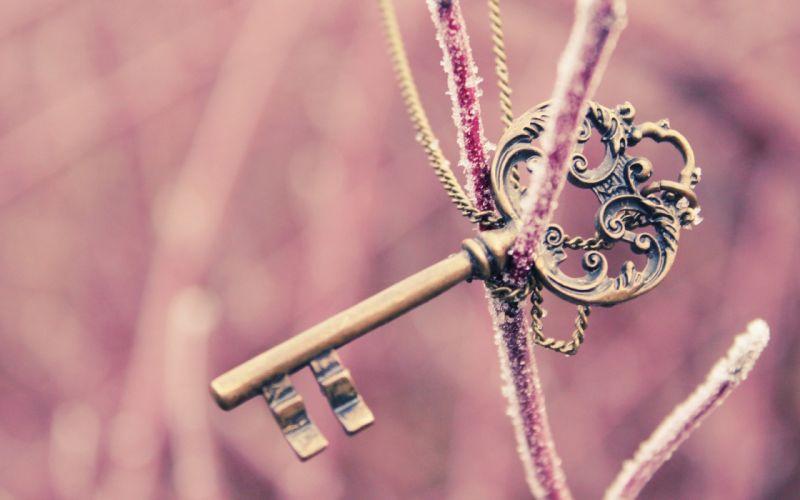mood key pink bokeh frost chain chains macro wallpaper