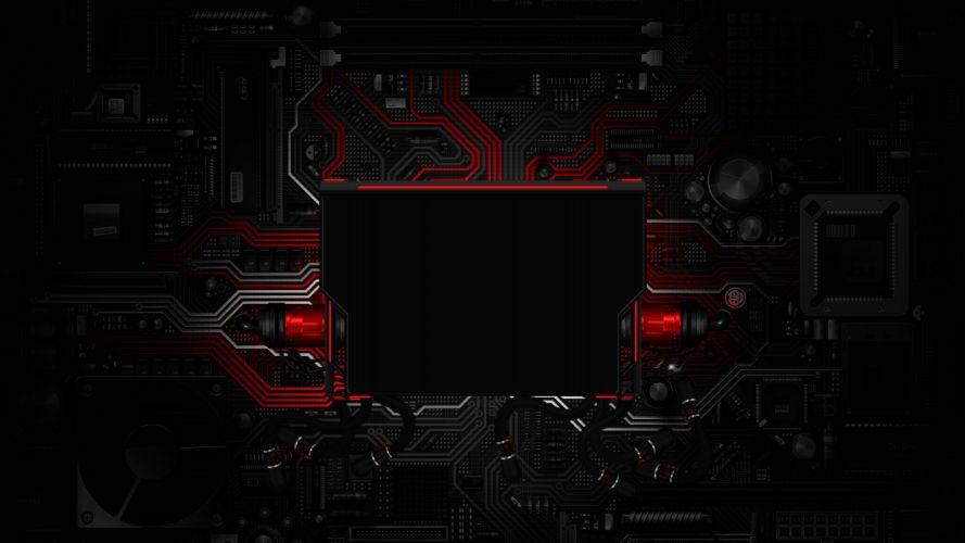 Sign Template fee schemes chips tech circuit circuits dark wallpaper