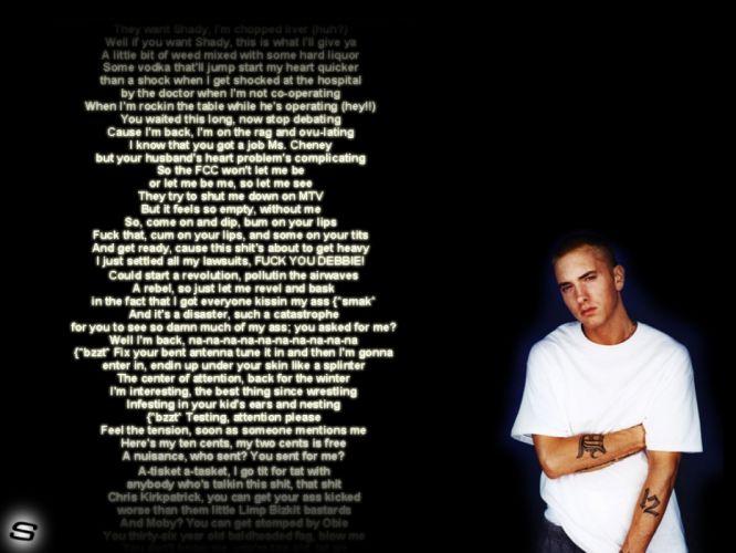 EMINEM SLIM SHADY hip-hop hip hop rap h wallpaper