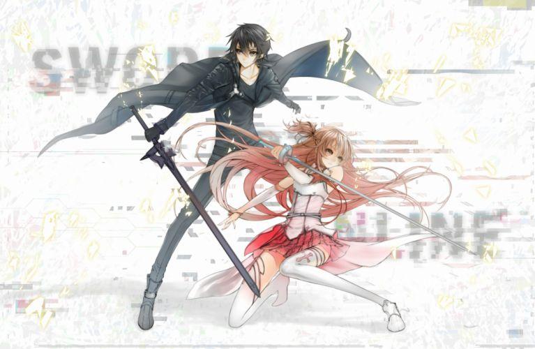 ciev kirigaya kazuto sword sword art online weapon yuuki asuna wallpaper