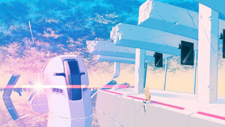 landscape original robot scenic techgirl water cyborg cyborgs robots girl girls wallpaper